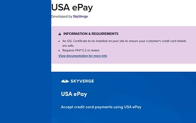 Free Download Woocommerce USA ePay Plugin