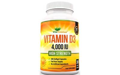 Vitamin D 4,000 IU, Maximum Strength Vitamin D3 Supplement